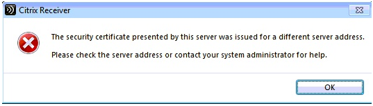 Orthotrac Cloud - Error (Citrix Receiver Could Not    - The Exchange