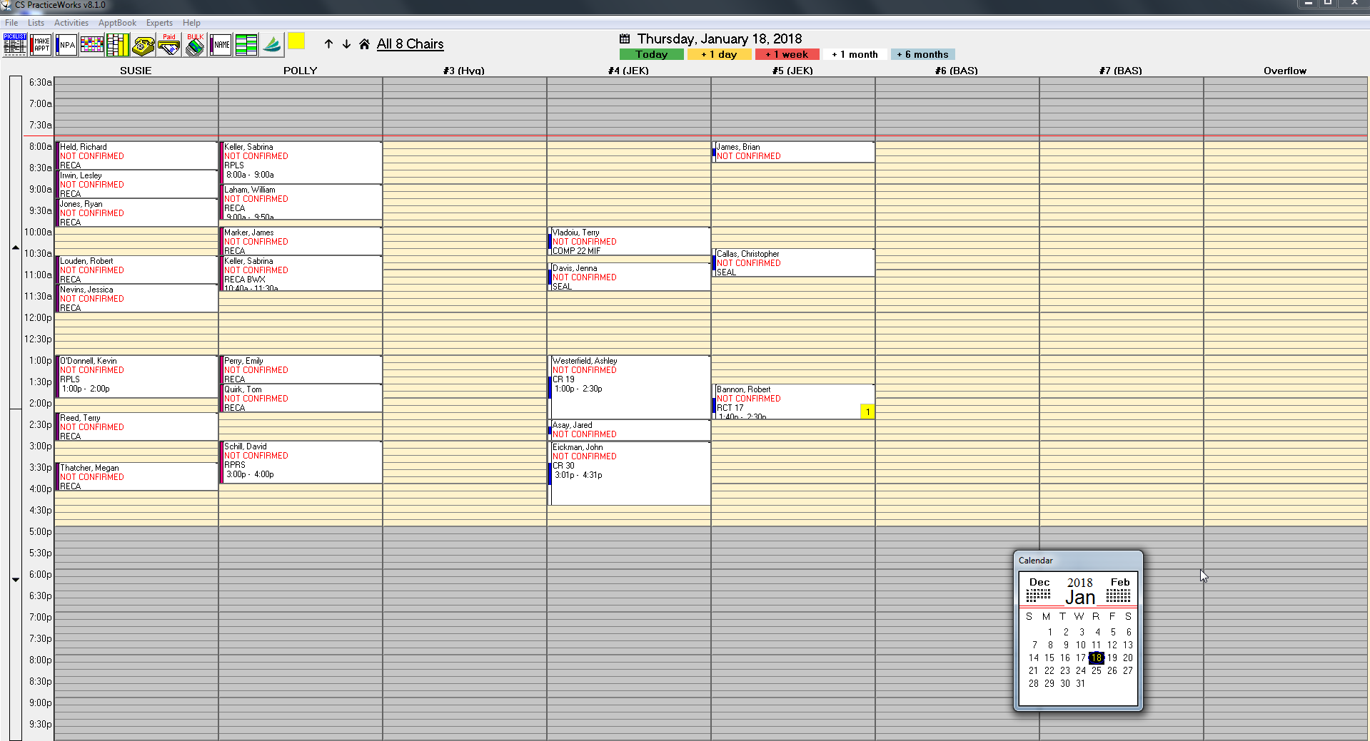 Widescreen Schedule